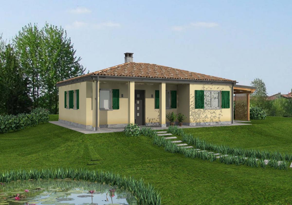 Design nelle case in legno moderne
