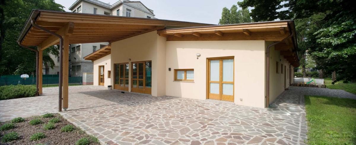 Dettagli casa in legno tradizionale