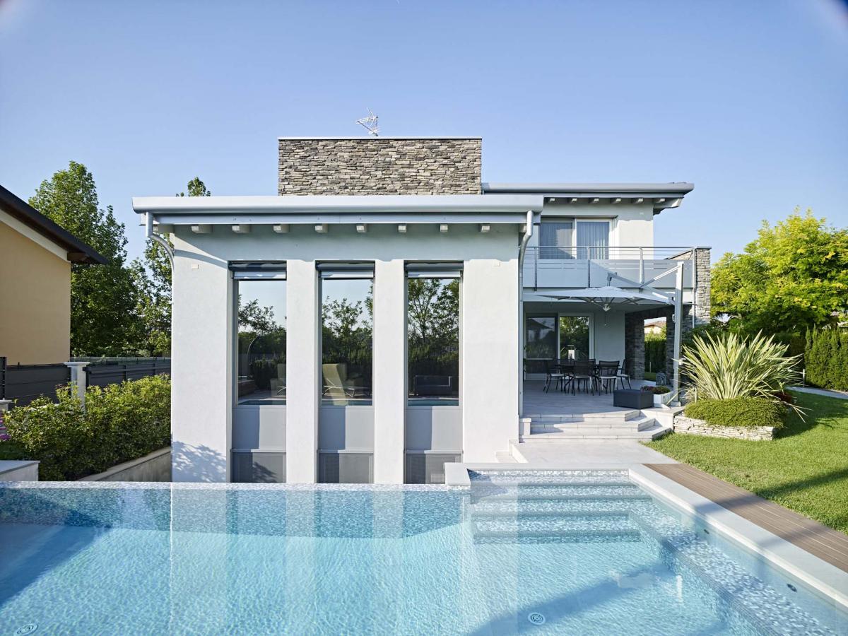Villa in bioedilizia, stile moderno