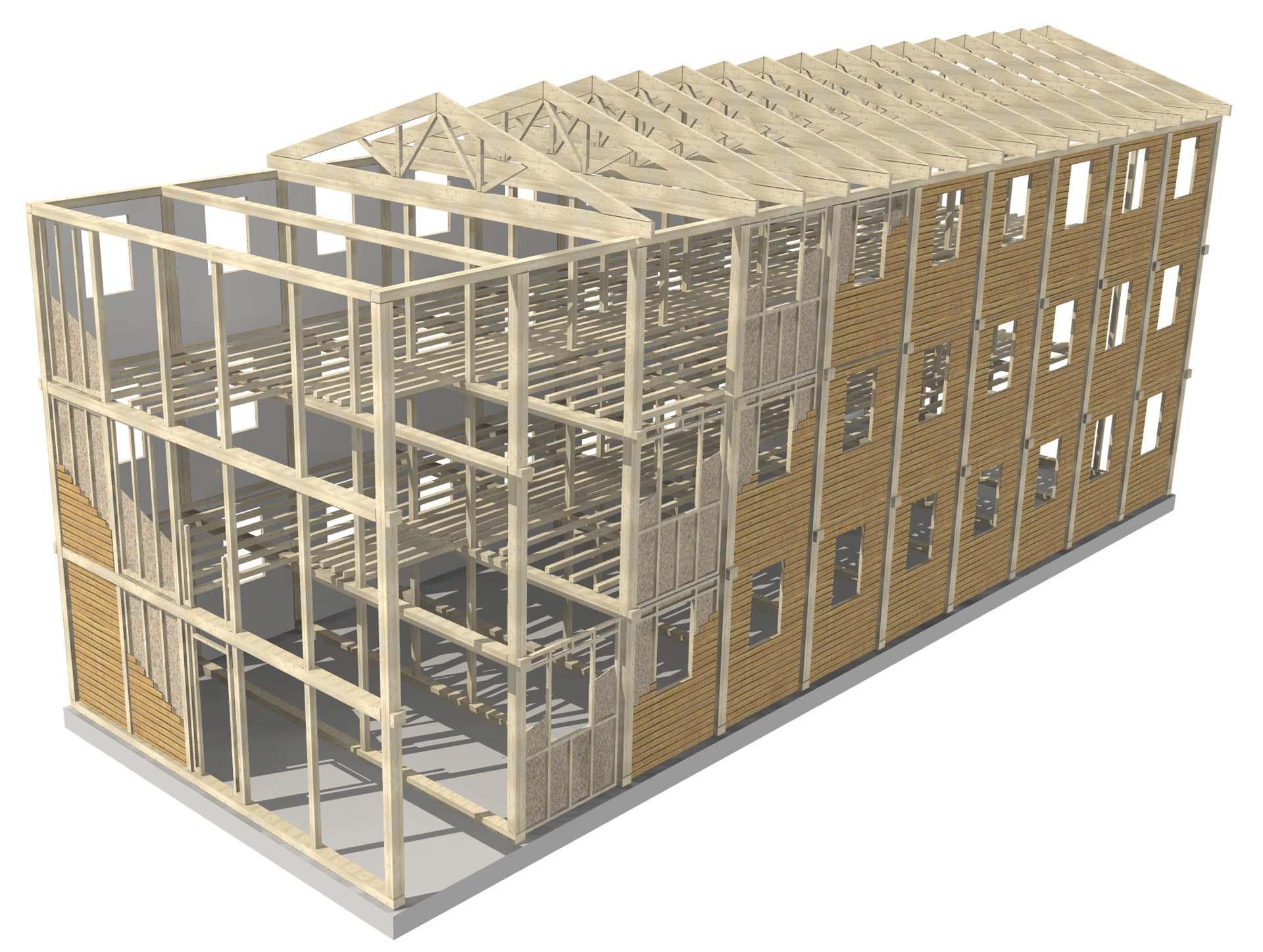 ILLE ALP sistema modulare casa in legno