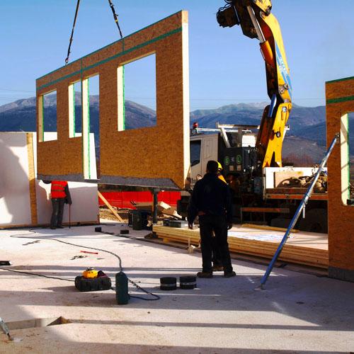 <b>Casa in legno stile moderno</b>