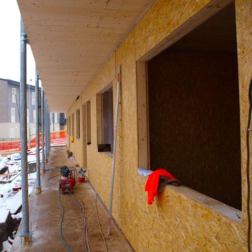 <b>Casa in legno linee moderne</b>